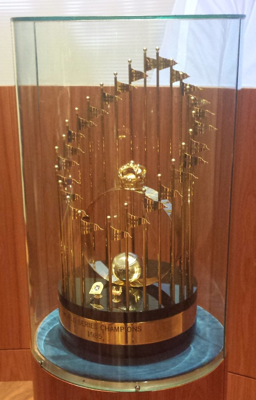 This lonely 1985 trophy in the Royals Hall of Fame needs a companion.